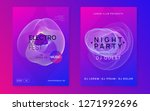sound flyer. dynamic gradient... | Shutterstock .eps vector #1271992696