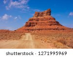wild desert landscape in valley ... | Shutterstock . vector #1271995969