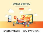 online delivery concept  can...