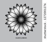 sunflower tattoo design  vector ...   Shutterstock .eps vector #1272001276