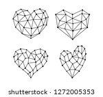 heart symbol in various shapes...   Shutterstock .eps vector #1272005353