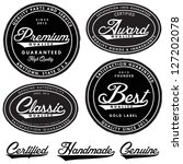 vector vintage label set. easy... | Shutterstock .eps vector #127202078