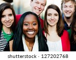 group of diverse students... | Shutterstock . vector #127202768