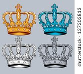 vector crown in four different... | Shutterstock .eps vector #127202813