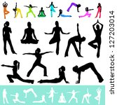 ������, ������: vector female yoga poses