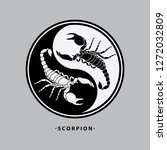 ying yang scorpion tattoo | Shutterstock .eps vector #1272032809