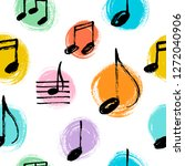 Hand Drawn Music Notes Seamless ...