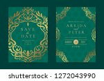 luxury hindu wedding invitation ... | Shutterstock .eps vector #1272043990
