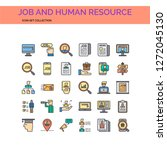 job and human resources  | Shutterstock .eps vector #1272045130