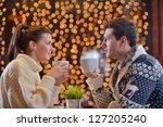 romantic evening date in... | Shutterstock . vector #127205240