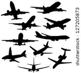 a group of planes in all... | Shutterstock .eps vector #127205873