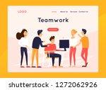 landing page. website template. ... | Shutterstock .eps vector #1272062926