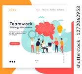 landing page. website template. ... | Shutterstock .eps vector #1272062953