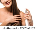 cropped view of smiling girl... | Shutterstock . vector #1272064159