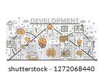 brain training  brainstorming ... | Shutterstock . vector #1272068440