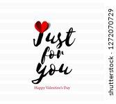 sweet message for valentine's... | Shutterstock .eps vector #1272070729