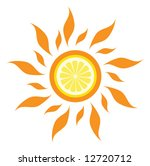 vector lemon sun | Shutterstock .eps vector #12720712