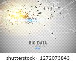 abstract 3d big data... | Shutterstock .eps vector #1272073843