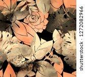 imprints abstract tropical... | Shutterstock . vector #1272082966