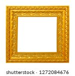 gold picture frame isolated on... | Shutterstock . vector #1272084676
