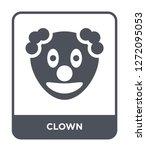 clown icon vector on white...   Shutterstock .eps vector #1272095053