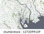 vector map of the city of tokyo ... | Shutterstock .eps vector #1272099139