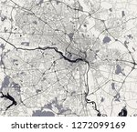 vector map of the city of... | Shutterstock .eps vector #1272099169