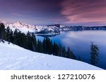 Winter Scene At Crater Lake...