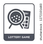 lottery game icon vector on... | Shutterstock .eps vector #1272101683