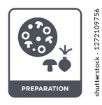preparation icon vector on... | Shutterstock .eps vector #1272109756