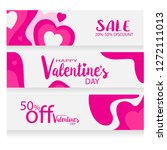 valentines day sale background... | Shutterstock .eps vector #1272111013