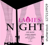 ladies night party with... | Shutterstock .eps vector #1272119929