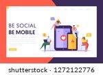 social media communication...   Shutterstock .eps vector #1272122776