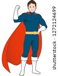super hero illustration   Shutterstock .eps vector #1272124699
