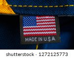 made in usa label textile | Shutterstock . vector #1272125773