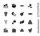 vector illustration of 16 icons....   Shutterstock .eps vector #1272129910