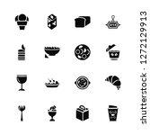 vector illustration of 16 icons.... | Shutterstock .eps vector #1272129913