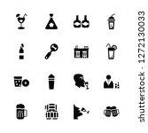 vector illustration of 16 icons....   Shutterstock .eps vector #1272130033