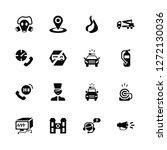 vector illustration of 16 icons....   Shutterstock .eps vector #1272130036