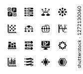 vector illustration of 16 icons.... | Shutterstock .eps vector #1272130060