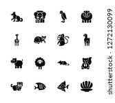vector illustration of 16 icons.... | Shutterstock .eps vector #1272130099