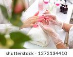 manicure  removing hybrid... | Shutterstock . vector #1272134410