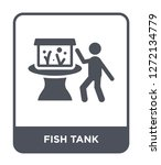 fish tank icon vector on white... | Shutterstock .eps vector #1272134779