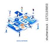 modern flat design isometric... | Shutterstock .eps vector #1272135853