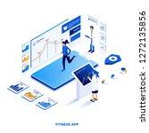 modern flat design isometric... | Shutterstock .eps vector #1272135856