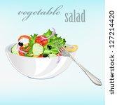 fresh vegetarian vegetable... | Shutterstock .eps vector #127214420