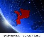 mozambique on blue digital... | Shutterstock . vector #1272144253