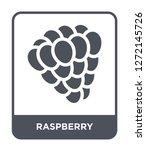raspberry icon vector on white... | Shutterstock .eps vector #1272145726