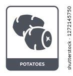 potatoes icon vector on white... | Shutterstock .eps vector #1272145750