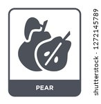 pear icon vector on white... | Shutterstock .eps vector #1272145789